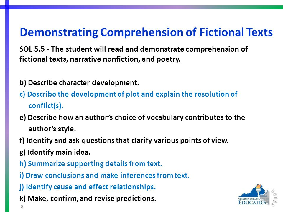 More Suggested Practice for SOL 5.4d Students need additional practice identifying author's use of figurative language.