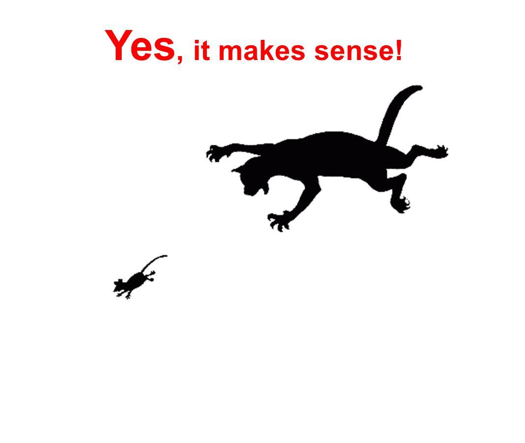 Yes, it makes sense!