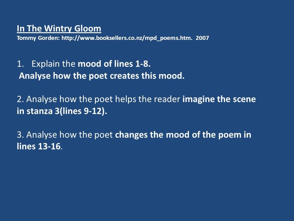 In The Wintry Gloom Tommy Gorden: http://www.booksellers.co.nz/mpd_poems.htm.