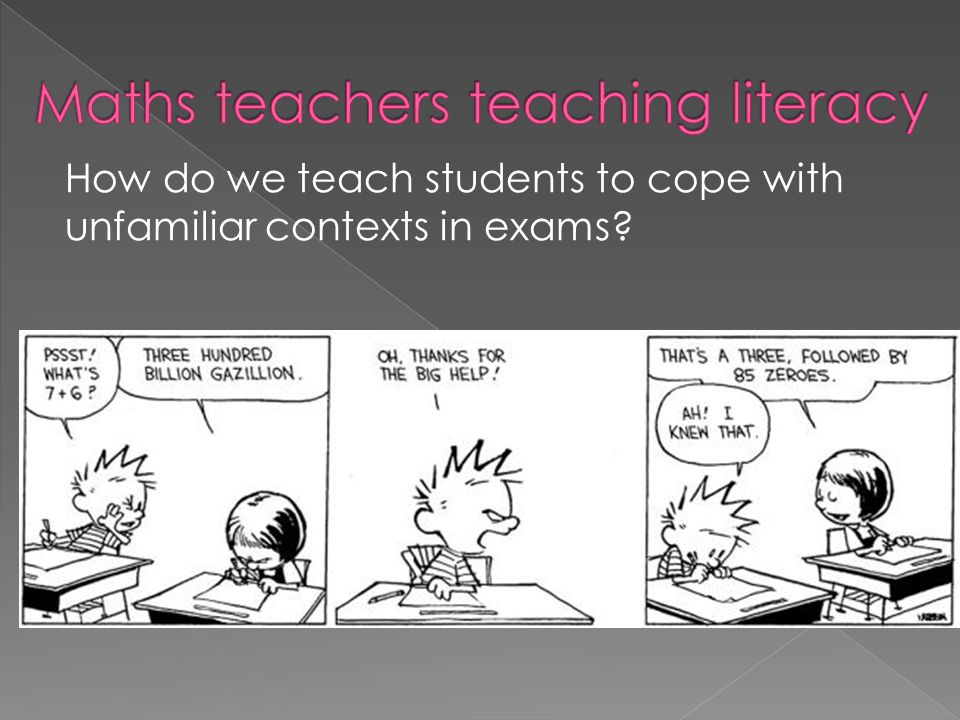 How do we teach students to cope with unfamiliar contexts in exams
