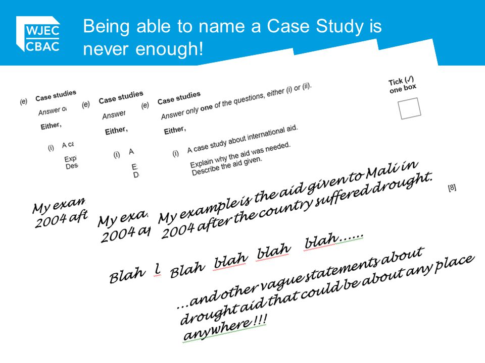 Being able to name a Case Study is never enough!