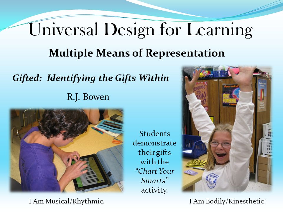 Gifted: Identifying the Gifts Within Objectives: Students will assess the qualities and characteristics of giftedness.
