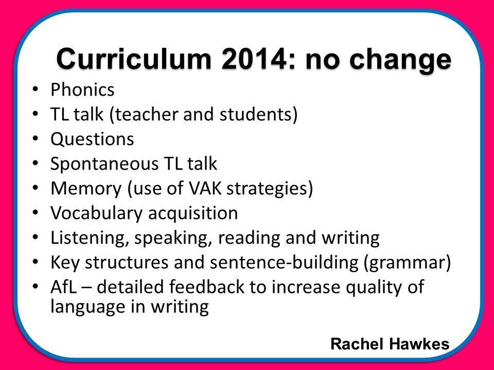 Rachel Hawkes Classroom talk Teacher TL use Student to teacher use Student to student use