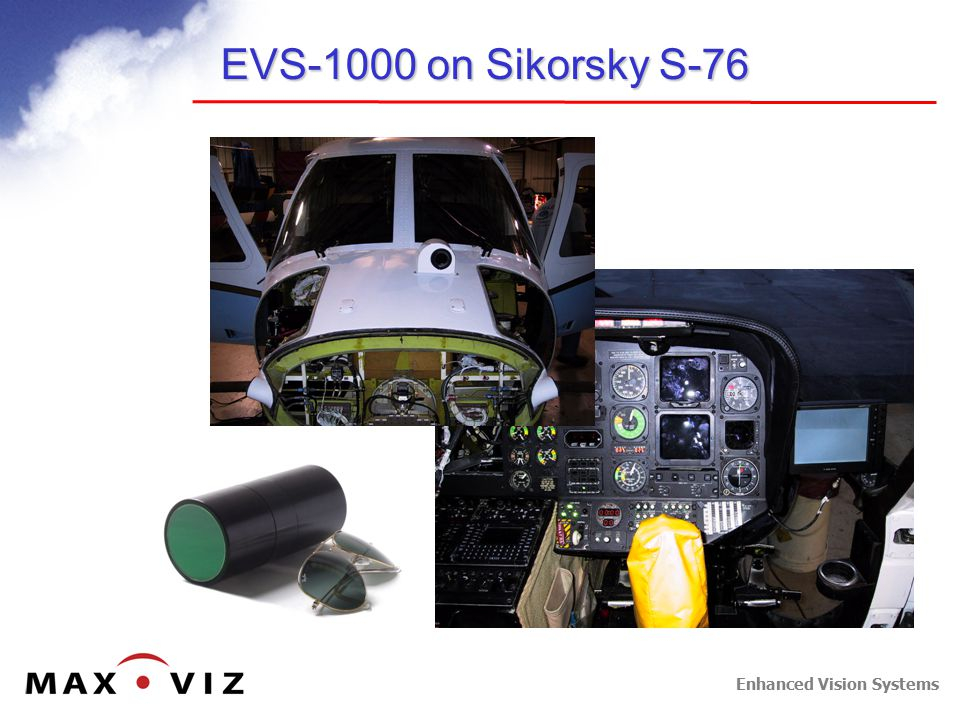 Enhanced Vision Systems EVS-1000 on Sikorsky S-76