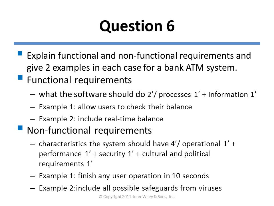 Question 7  What are the steps for writing a use case.