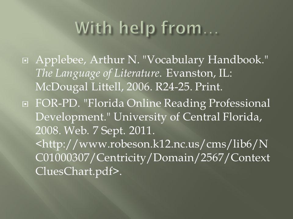  Applebee, Arthur N.