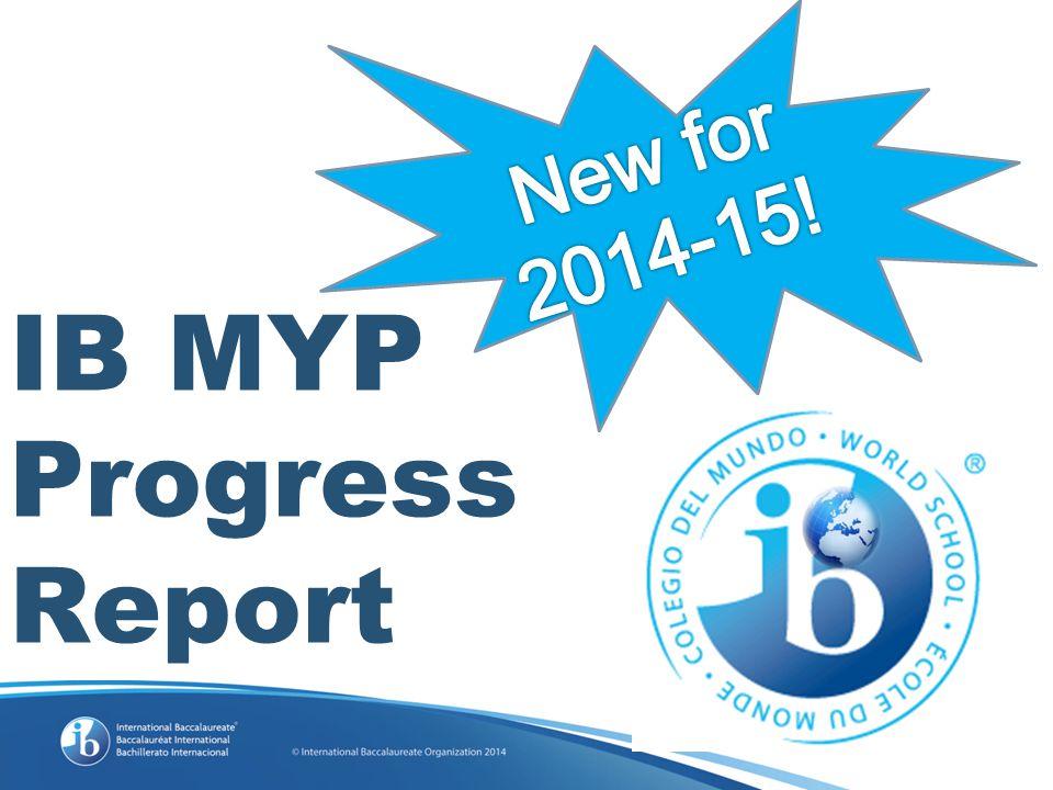 IB MYP Progress Report