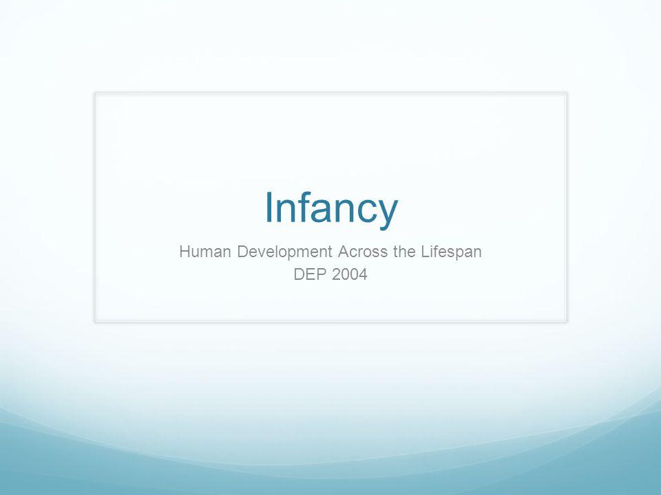 Infancy Human Development Across the Lifespan DEP 2004