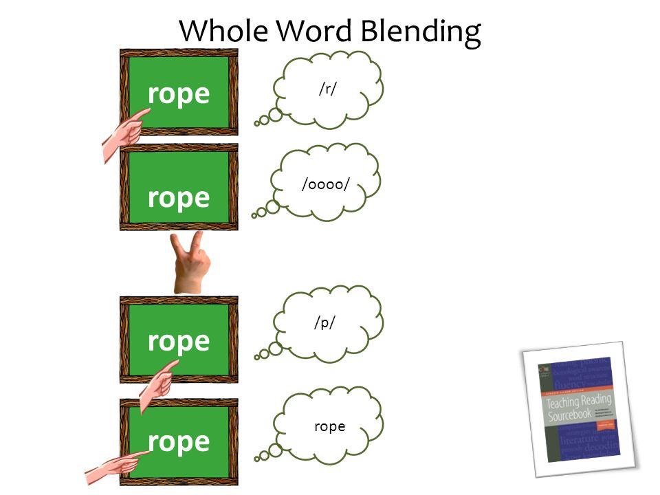Whole Word Blending rope /r/ /oooo/ /p/ rope