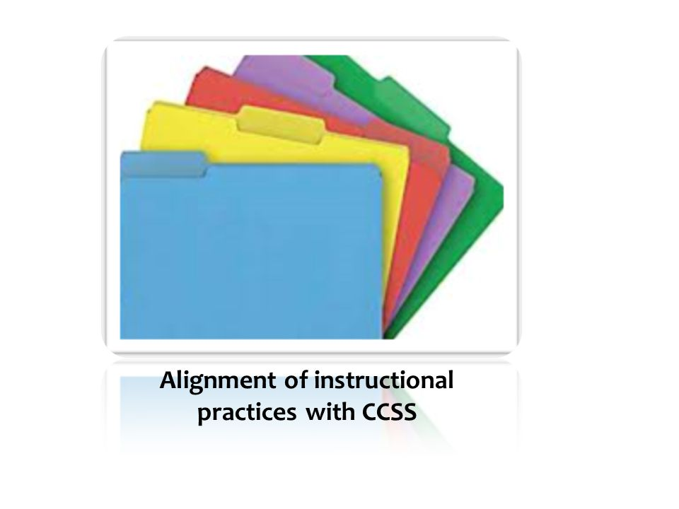 Alignment of instructional practices with CCSS