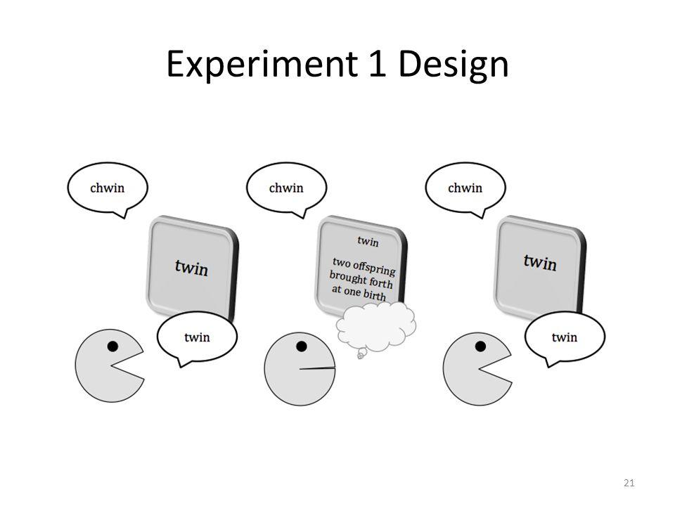 Experiment 1 Design 21
