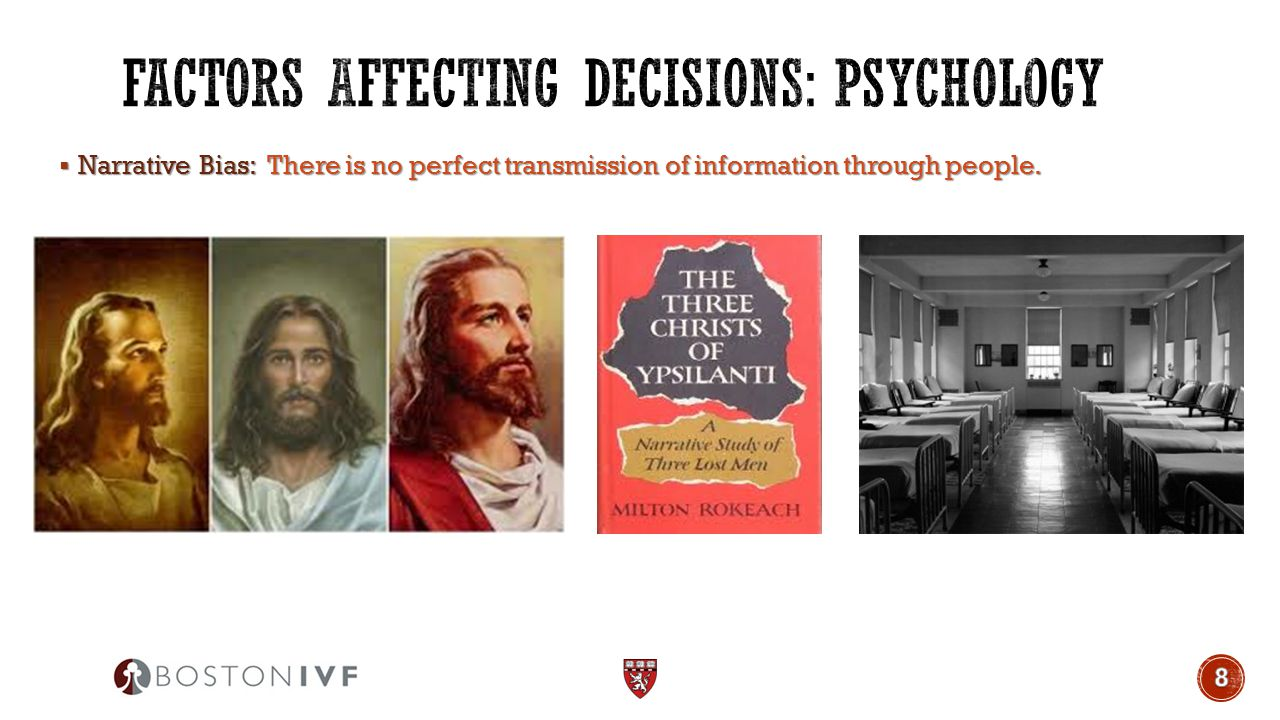  Narrative Bias: There is no perfect transmission of information through people.