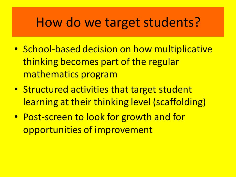 How do we target students.
