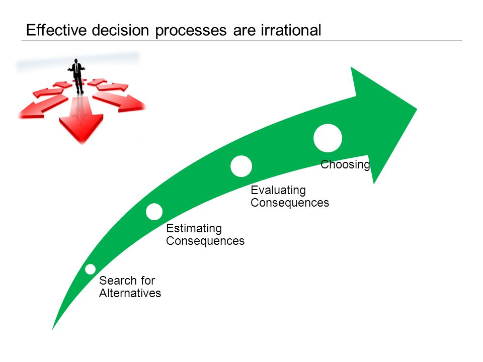 Allow decisional shortcuts Can reinforce motivation and commitment Ideologies can reconcile decision and action Ideologies Effective ideologies need to be: – Shared – Clear – Narrow – Able to shift rapidly Else, ideologies might generate social deadlocks The solution is to use decision rationality to mold ideologies