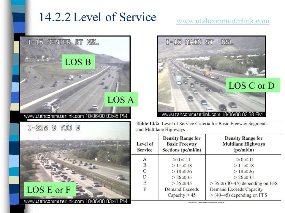 Chapter 148 14.2.2 Level of Service LOS C or D LOS B LOS A LOS E or F www.utahcommuterlink.com