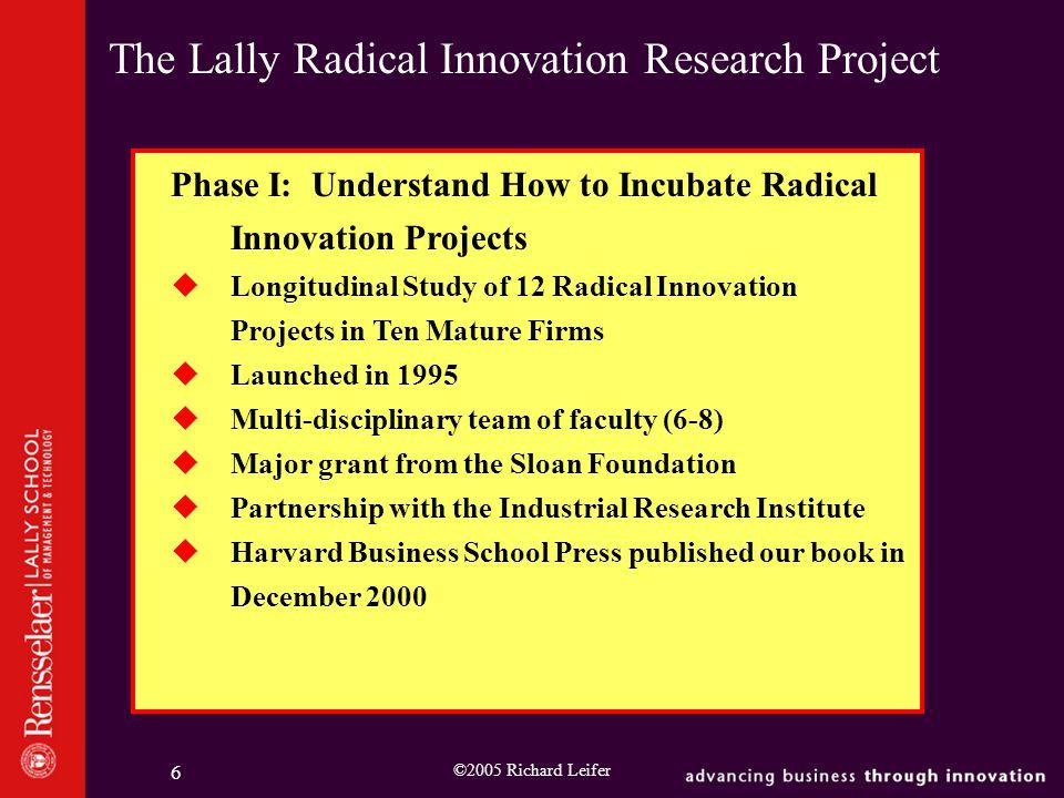 ©2005 Richard Leifer 7 Phase I Companies 1.Air Products 2.