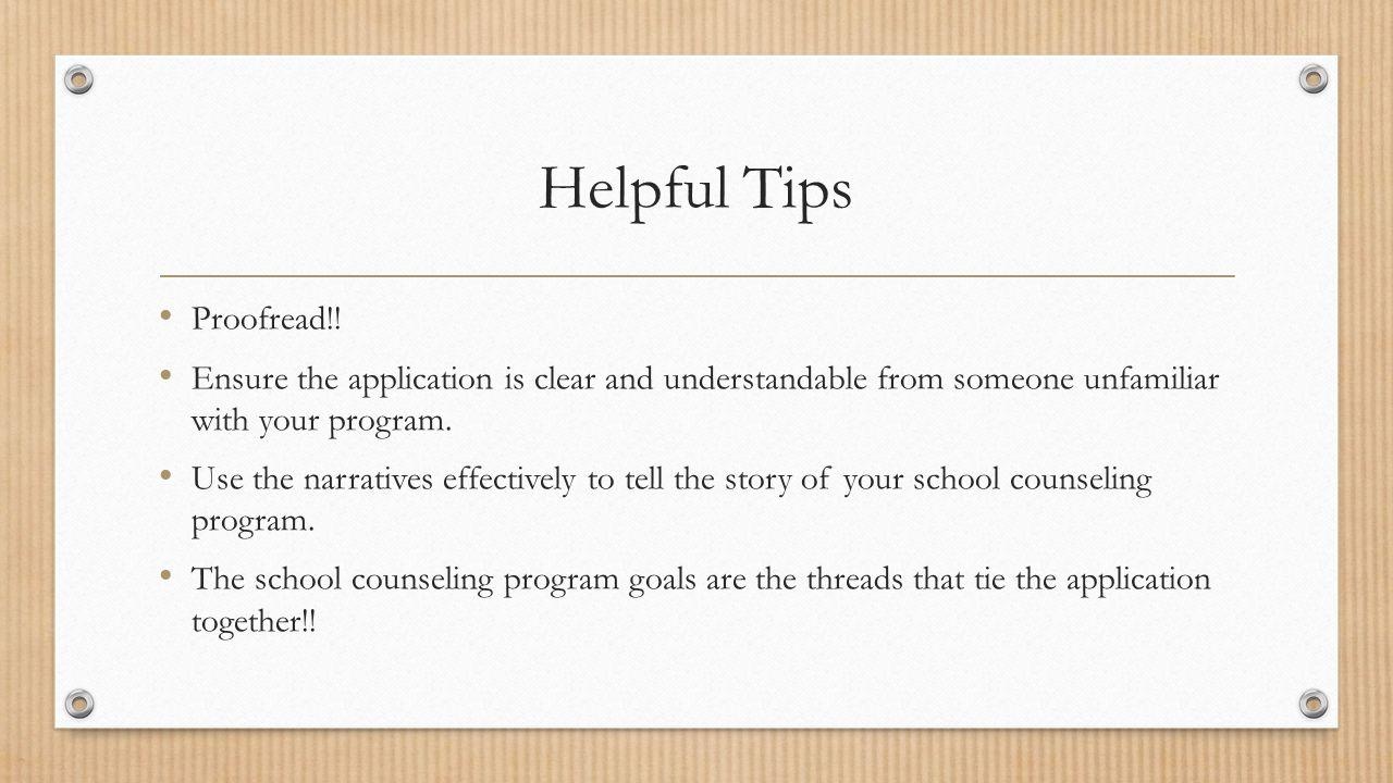 Helpful Tips Proofread!.