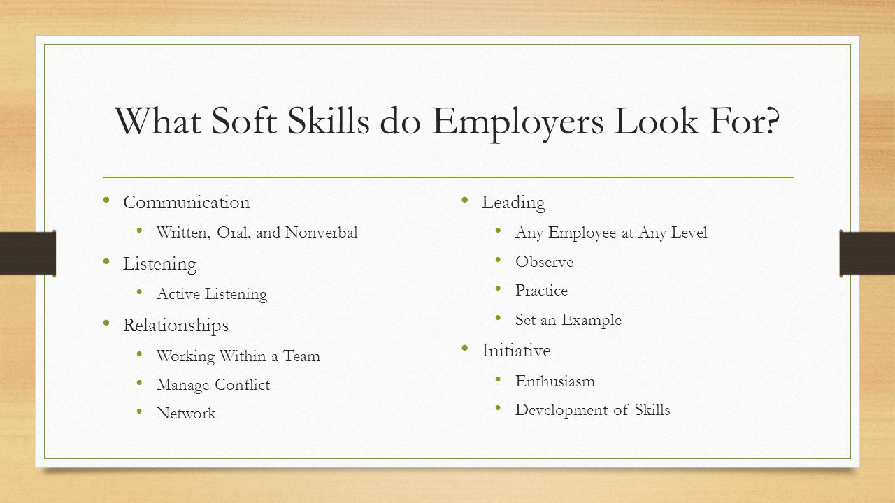 What Soft Skills do Employers Look For.