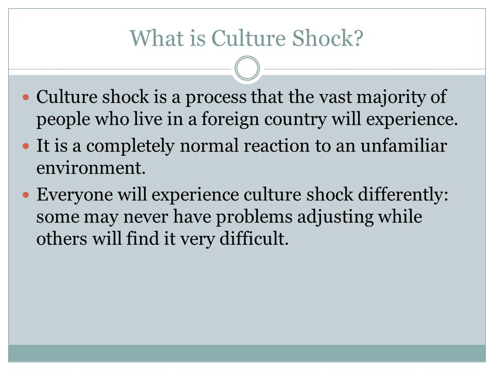 What is Culture Shock.