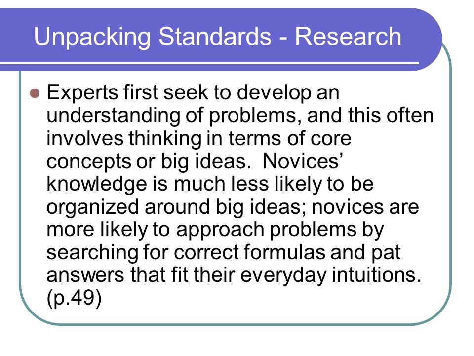 Big Ideas.Core Tasks. UBD guarantees nothing.