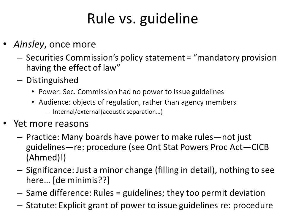 Rule vs.