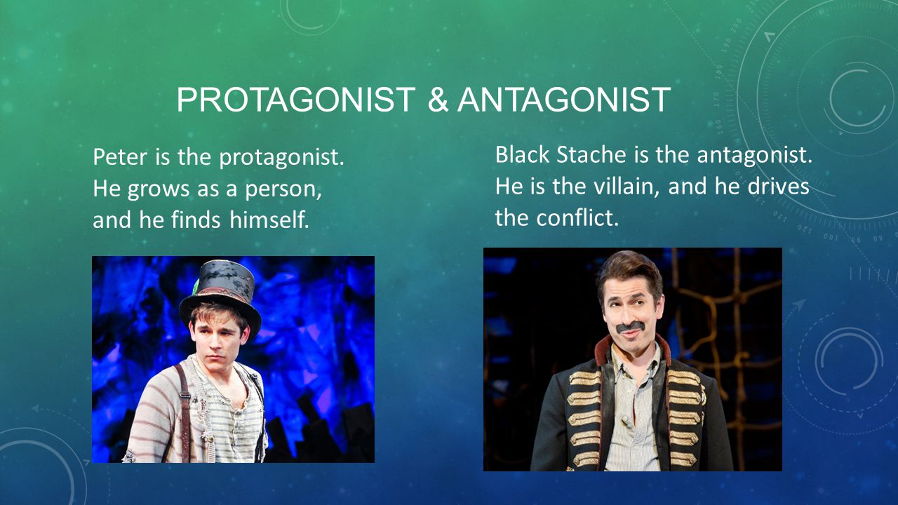 PROTAGONIST & ANTAGONIST Peter is the protagonist.