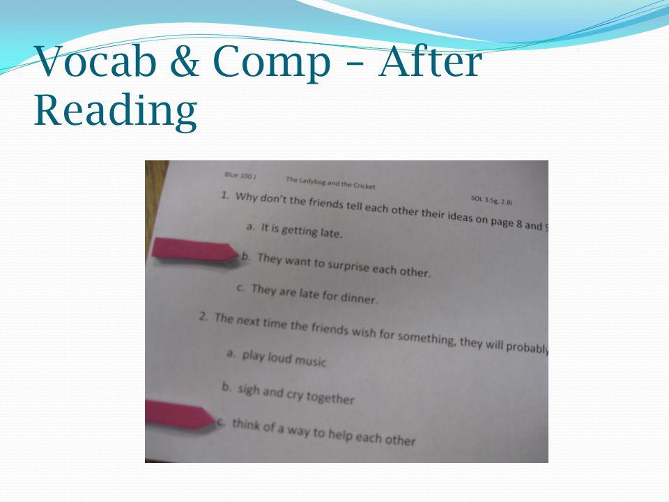Vocab & Comp – After Reading