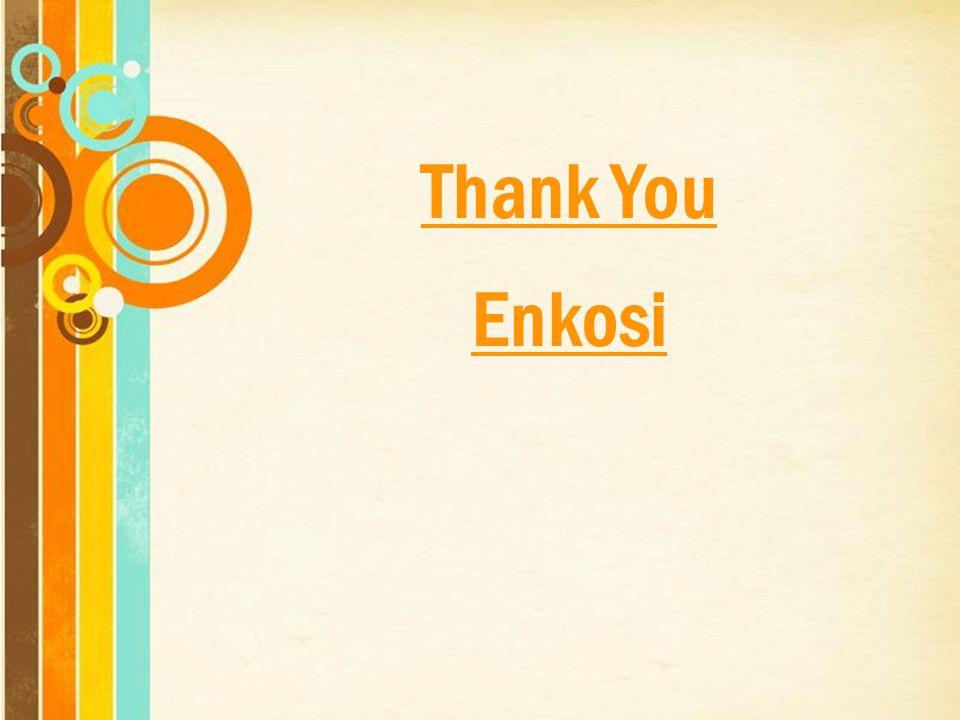Thank You Enkosi