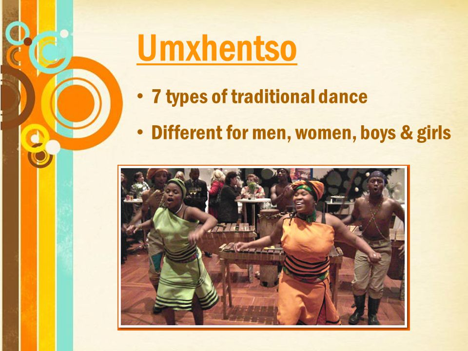 Umxhentso 7 types of traditional dance Different for men, women, boys & girls