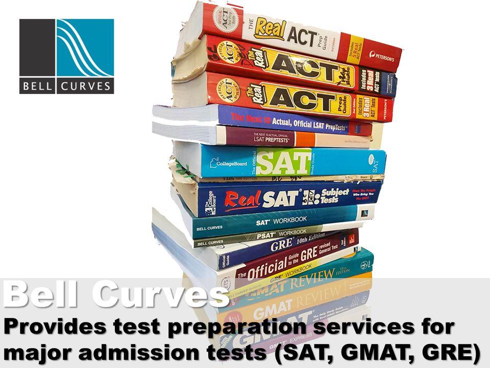 Provides test preparation services for major admission tests (SAT, GMAT, GRE) Bell Curves