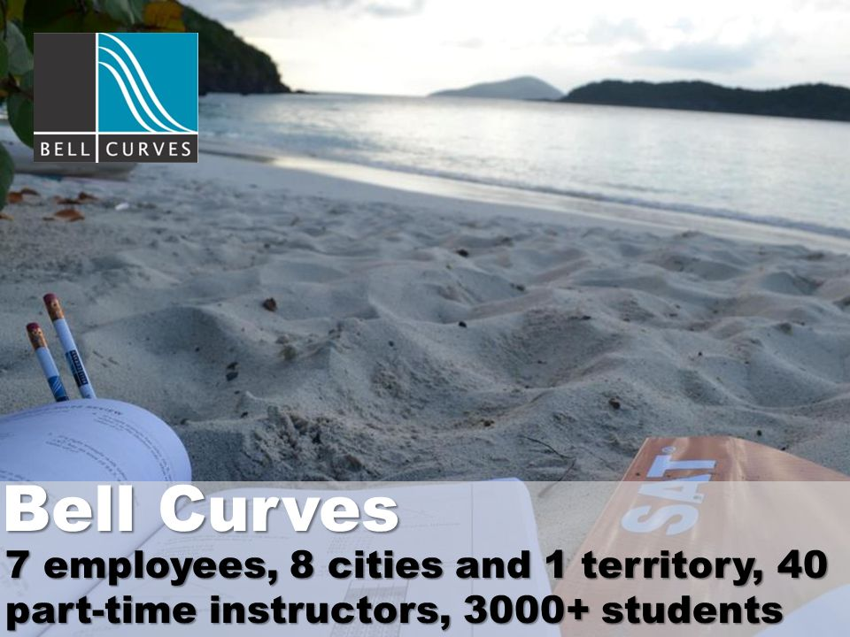 7 employees, 8 cities and 1 territory, 40 part-time instructors, 3000+ students Bell Curves