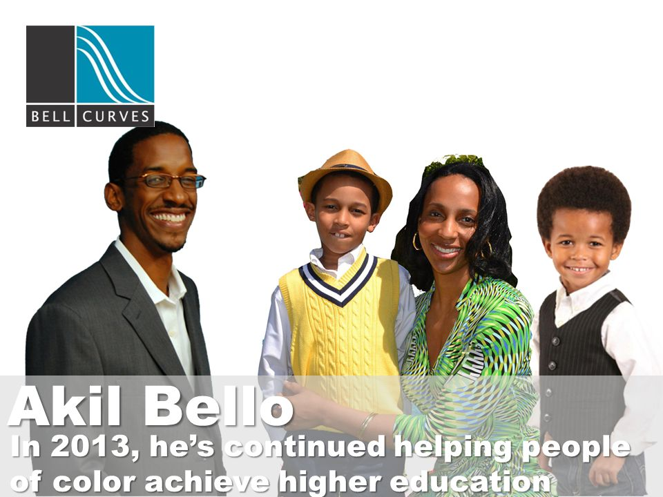 Akil Bello In 2013, he's continued helping people of color achieve higher education