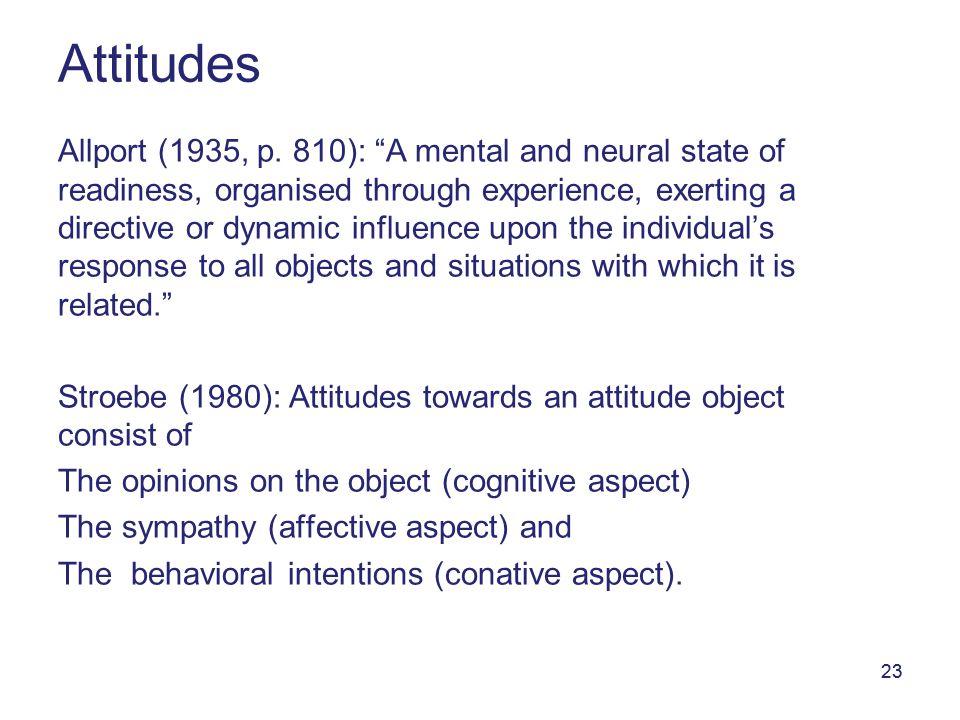 23 Attitudes Allport (1935, p.