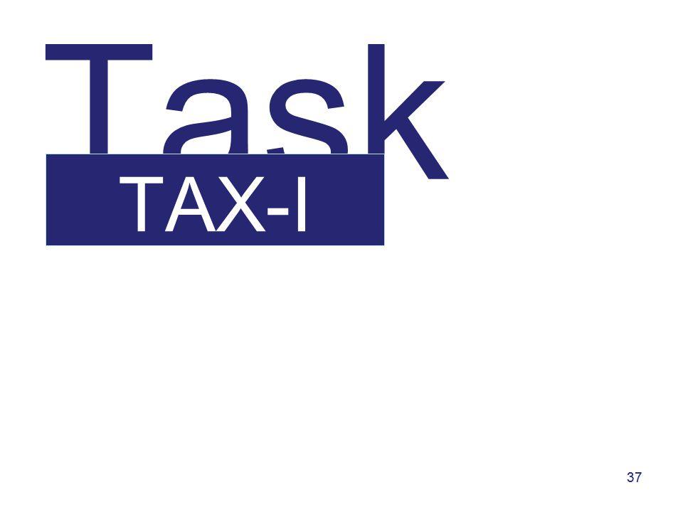 37 Task TAX-I