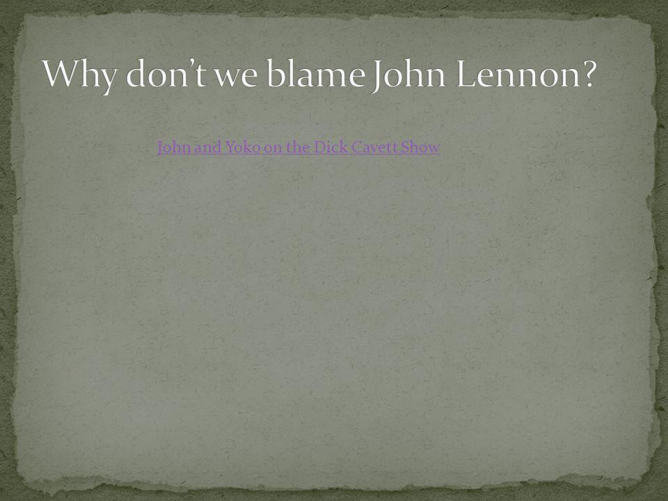 John and Yoko on the Dick Cavett Show