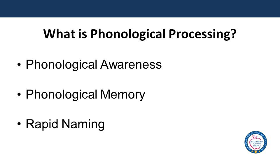 What is Phonological Processing Phonological Awareness Phonological Memory Rapid Naming