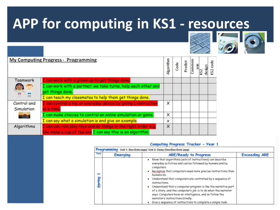APP for computing in KS1 - resources