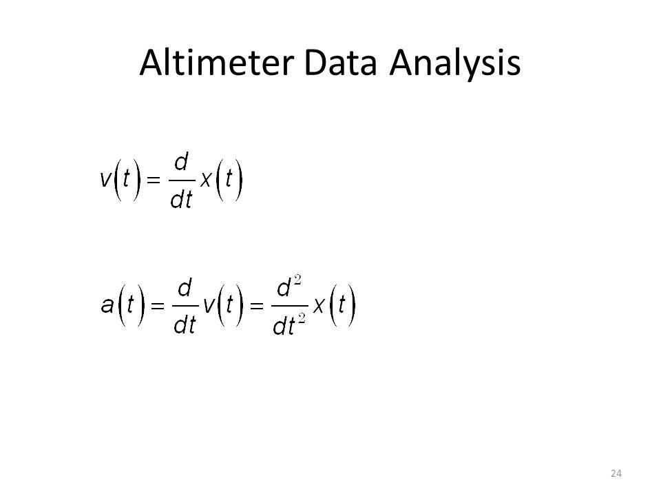 Altimeter Data Analysis 24