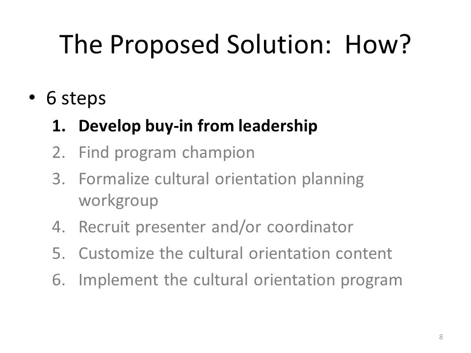 The Proposed Solution: How.