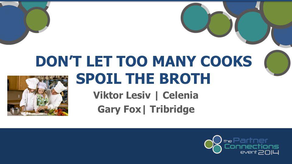 Viktor Lesiv   Celenia Gary Fox  Tribridge DON'T LET TOO MANY COOKS SPOIL THE BROTH