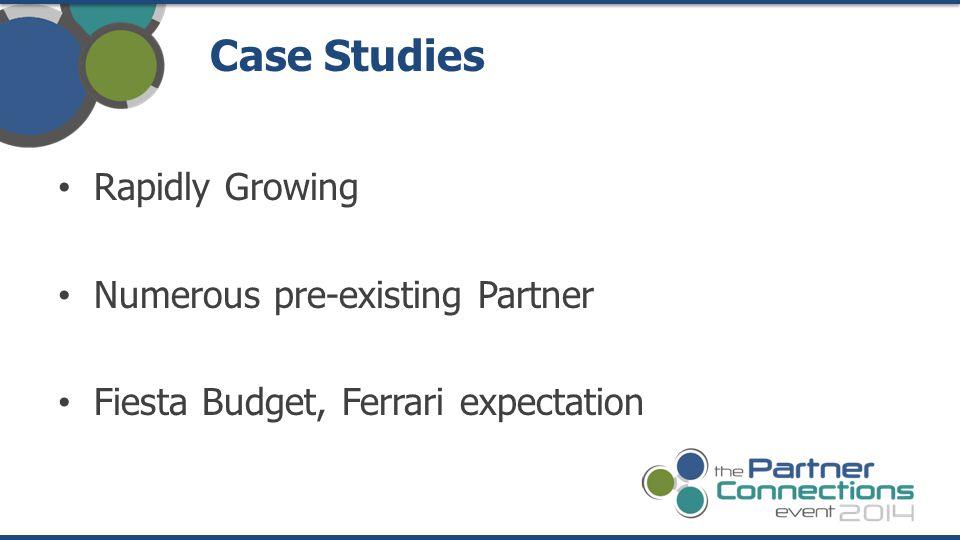Rapidly Growing Numerous pre-existing Partner Fiesta Budget, Ferrari expectation Case Studies