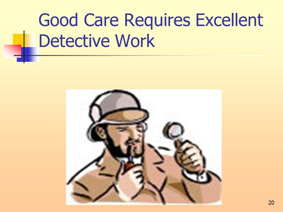 20 Good Care Requires Excellent Detective Work