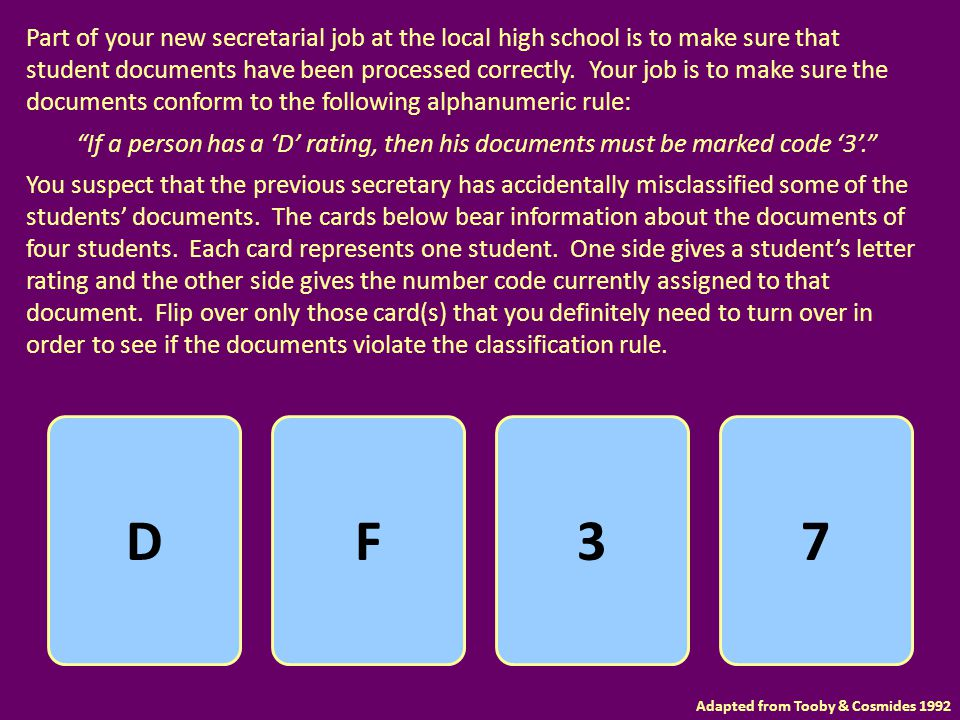 Part of your new secretarial job at the local high school is to make sure that student documents have been processed correctly. Your job is to make su