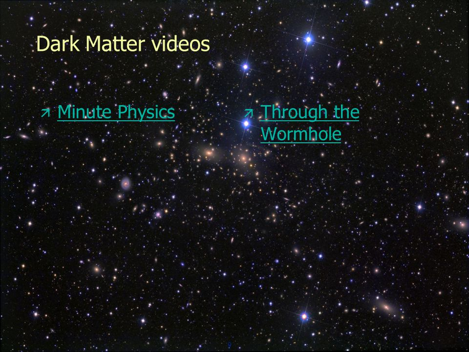 9 Dark Matter videos  Minute Physics Minute Physics  Through the Wormhole Through the Wormhole