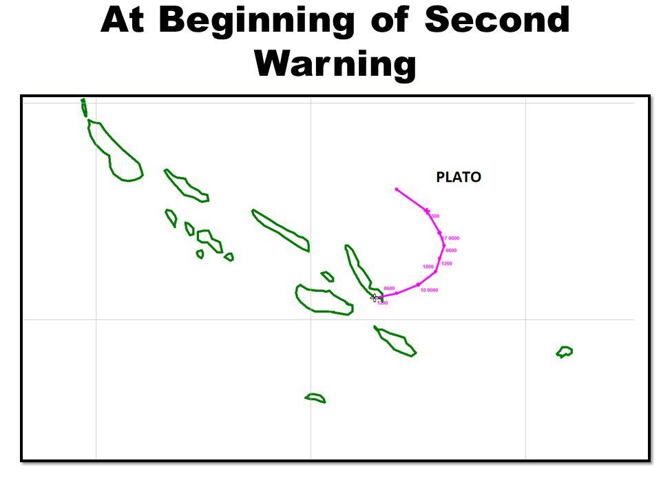 At Beginning of Second Warning