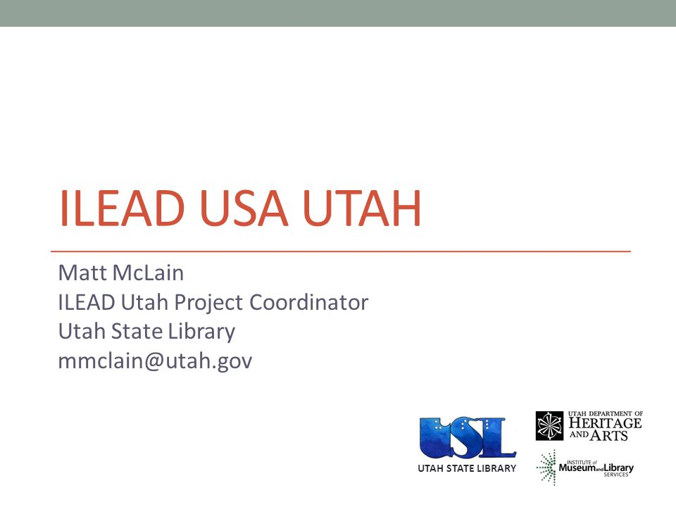 ILEAD UTAH addresses the need to expand the leadership abilities of librarians and increase ability to use participatory technology to effectively engage their community.