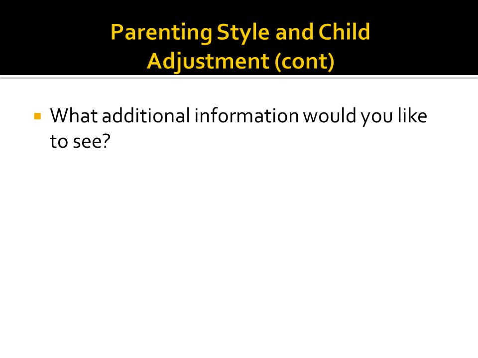  What additional information would you like to see?