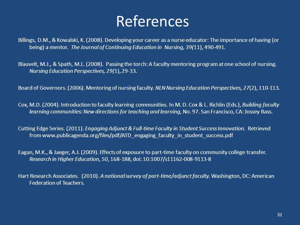 References Billings, D.M., & Kowalski, K.(2008).