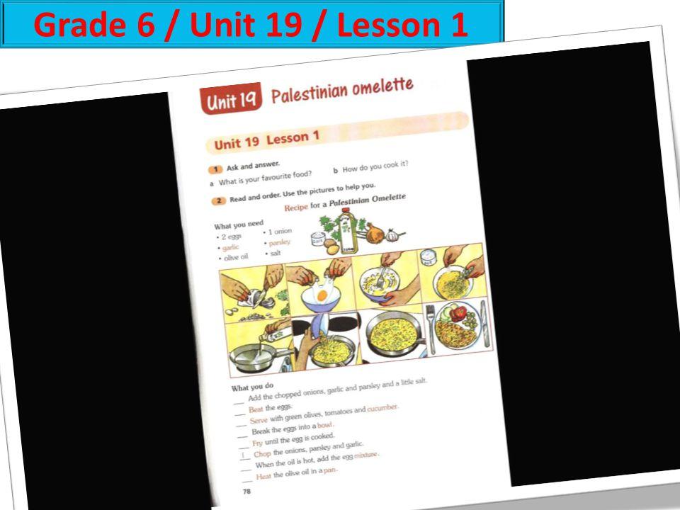 Grade 6 / Unit 19 / Lesson 1