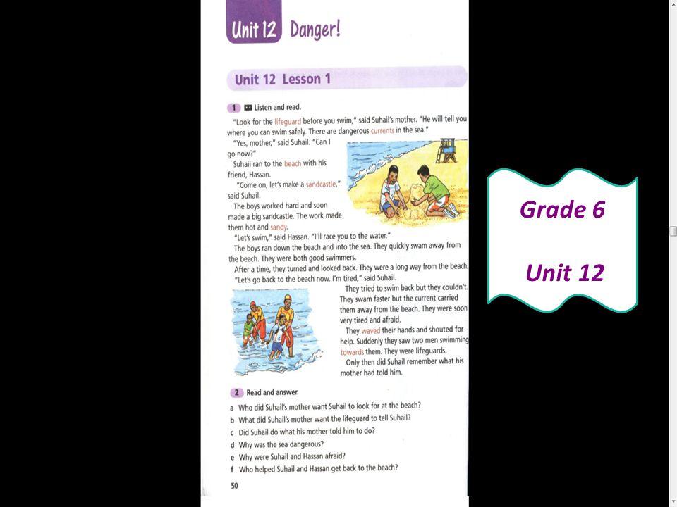 Grade 6 Unit 12